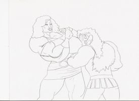 A brawny bout by Heractinee