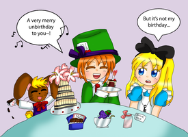 A Very Merry Unbirthday by purplemagechan