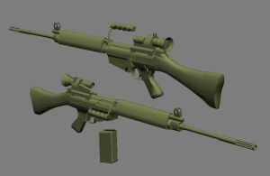 L1A1 SLR WIP 3 by ExtraNoise