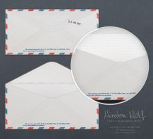 Simple U.S. Air Mail envelope by stonek