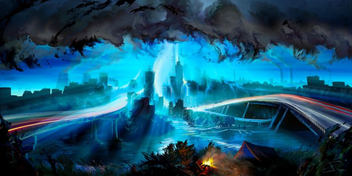 City of Thunder : Supercell by aerroscape
