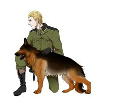 Ludwig and German Shepherd by Rai-Aisaka