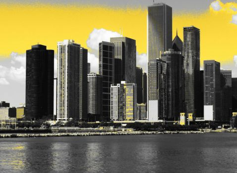 Chicago in yellow skies by Rhyon83