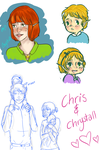 OC love child: ChrisChrys + Chrys by purple-coffee