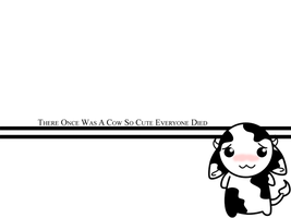 Cutest Cow Wallpaper by FlantsyFlan