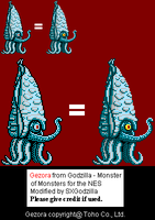 Gezora Sprite Upgrade by SXGodzilla