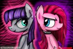 Maud and Pinkie Pie Metal/Mental Sisters by RoboCop17