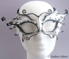 Little Leather Faerie Mask by Beadmask