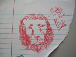 Lion sketch/doodle by wolfgirl-1999