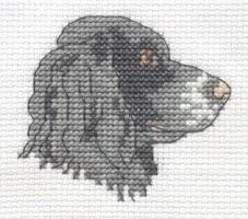 Springer Spaniel cross stitch by Lil-Samuu