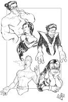 X-Men Drawlings by ComfortLove