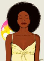 Afro by y-o-z-h-a