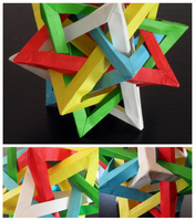 Five Intersecting Tetrahedra - details by Revenia