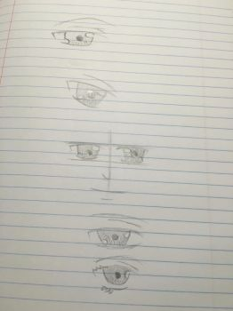Male and female eye practice by Firestorm999