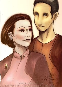 commission - Kira and Odo by far-eviler
