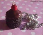 chocolate cupcake necklace by citruscouture