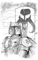 Boba Fett Inks over Lee Kohse's pencils by Frisbeegod