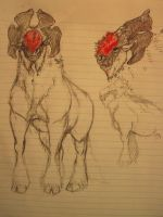 Ba'kalch sketch Beast concept by Mr-Goblin