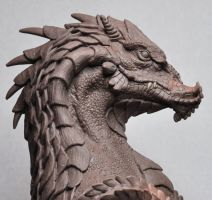 Northern King Dragon bust 5 Monter Clay by AntWatkins