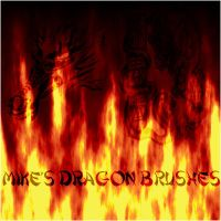 Dragon GIMP Brushes by mikethedj4