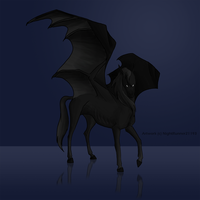Thestral by Morgan-Michele