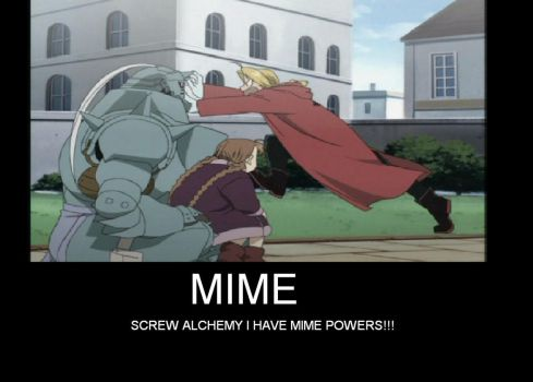Edward Elric is a Mime by onboo