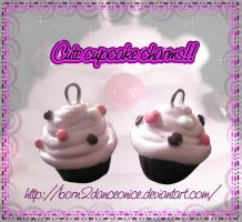 Cute cupcake charms by BoRn2DaNcEoNiCe