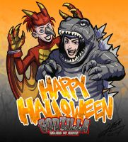 Happy Halloween from Godzilla Rulers of Earth by KaijuSamurai