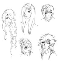 :Request: Rellik Hair Sketches: by punkaspazer