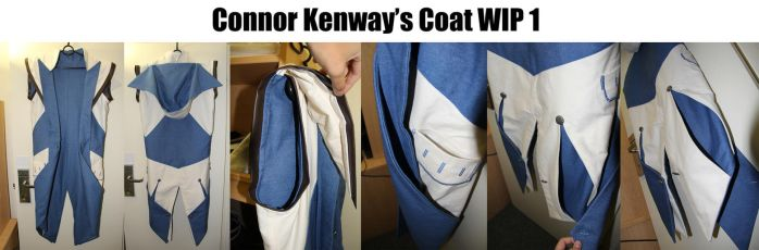 AC3 Connor Kenway Coat WIP 01 by yulittle