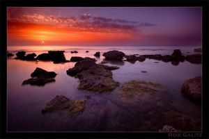 Bluebay sunset by RoieG