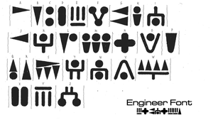 Prometheus Engineer - Font by NightmareGK13