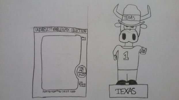 University Bobbleheads Collection-Texas by Gemmygod