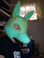 WIP Lucario Mask by ScratchKitty