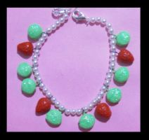 Strawberry mint bracelet by AnaInTheStars