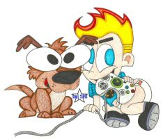 johnny and dukie lil gamers by thesmurfet
