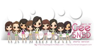 SNSD CHIBI Gee mv version by squeegool