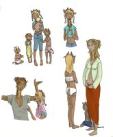 Character Designs 1 by rhymeswithmonth