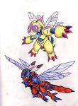 old digimon drawing by badnekogirlxp