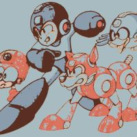 Megaman,Rush the Dog,Beat, and Eddie. by DevintheCool