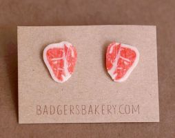 Raw steak studs by BadgersBakery