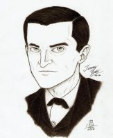 Jeremy Brett as Holmes by KaizokuShojo