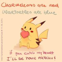 If You Catch My Heart, I'll Be Your Pikachu! by twiggyisadorable