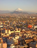 Popocatepetl from Mexico City by evilfreak86