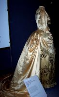 Victorian white court gown by SynysterPuce
