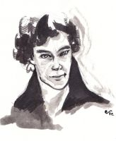 A Study in Ink: Sherlock by FaerieCarousel