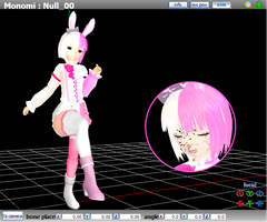 MMD Monomi - Model Review by Trackdancer