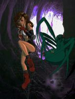 Tifa in the Spiders Net_by_bur by monstersandmaidens
