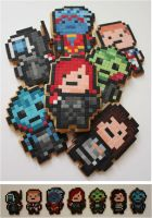Mass Effect Pixel Biscuits by BeanieBat