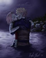 NaruSaku: River Mission by chunkymacaroni